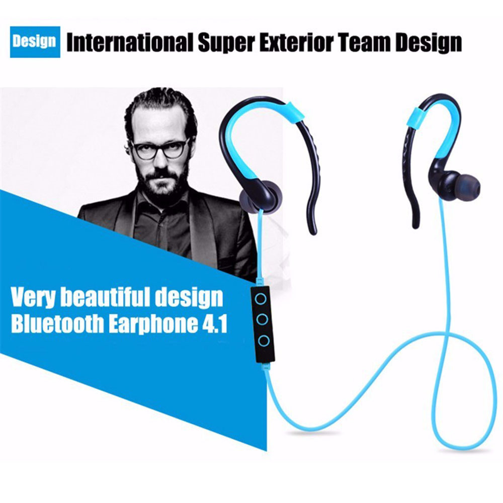 2016 Sports Bluetooth Headphone Sweat Proof Sport Earphone Cordless Earpiece Noise Cancelling Stereo Wireless Headset
