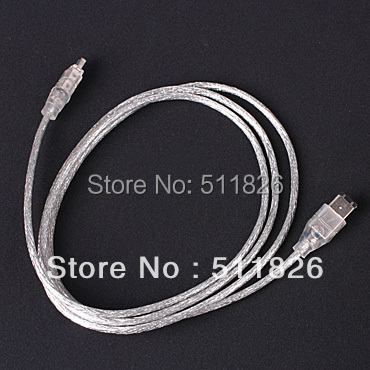 Free Shipping IEEE 1394 iLINK FIREWIRE 6 to 4 PIN CABLE FOR DV #9540(China (Mainland))