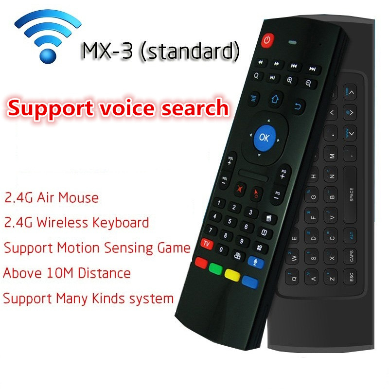MX3 2.4G Remote Control Fly Air Mouse Mini Wireless Keyboard With Voice Micphone For XBMC Kodi Android TV Box Tablet Mini PC(China (Mainland))