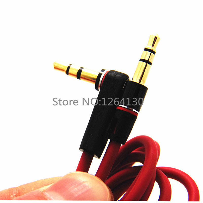 1.2M Right Angle Jack 3.5mm Male to Male AUX Audio Cable For Car Headphone Computer Mp3 Player(China (Mainland))
