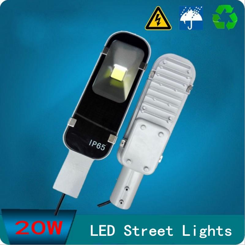 LED Streetlight 20W Street Lights Road Lamp waterproof IP65 45mil COB led chip lumen AC110-240V led street light free shipping(China (Mainland))