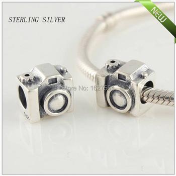 Se adapta a Pandora pulsera garantizado 100% 925 de moda plata encantos roscadas joyería de la cámara envío gratis LW25076