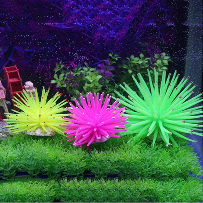 Silicone Aquarium Fish Tank Artificial Coral Plant Underwater Ornament Decor(China (Mainland))