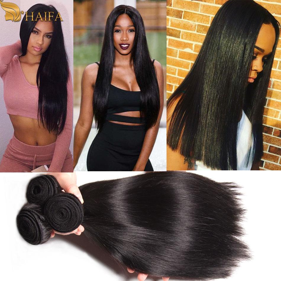 Raw Indian Virgin Hair Straight Human Hair Weaves 3 PCS/lot Straight Human Hair Extension Very Soft XuChang haifa hair products(China (Mainland))