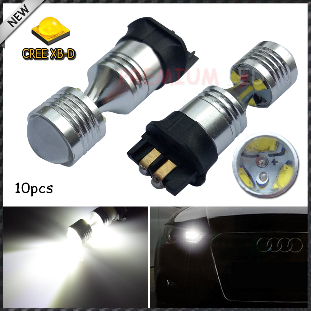 10pcs White Canbus PWY24W CREE LED Bulbs For Audi VW Front Turn Signal Lights,DRL Lamp(China (Mainland))