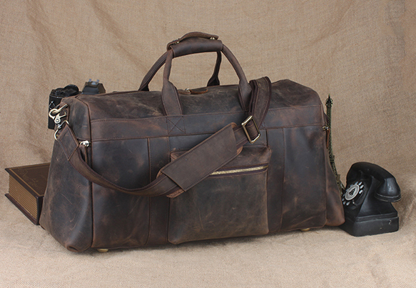 TIDING Genuine leather travel bag men duffle bag large capacity gym bag with shoulder strap 10984(China (Mainland))