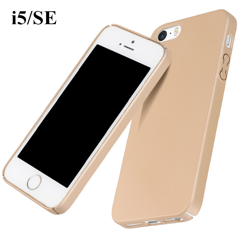 Original Ultrathin full cover Matte soft handle Top quality PC case cover For iPhone SE 5 5S+free Nano Screen Protective Film(China (Mainland))