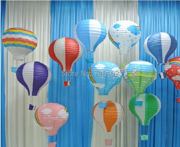 "Free Shipping 10pcs/lot 16"" Size 40*52(H)cm Paper Lantern Fire Bolloon Design Room Decoration Multi-color Option(China (Mainland))"