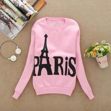 Modern Spring ,Autumn and winter Womens Long Sleeve Printed Pullover casual Sweatshirts Blouse Tops(China (Mainland))