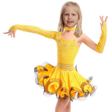 Танцевальная платье для девочек самба платье бальные детей танцы платье девочка Dancewear балета Vestido băile выходец из латинской америки девушки