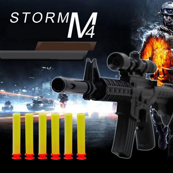 M4A1 assault rifle plastic toy guns + 6 EVA Foam bullets Imitation for kids Safe not hurt children Military Addictive play game(China (Mainland))