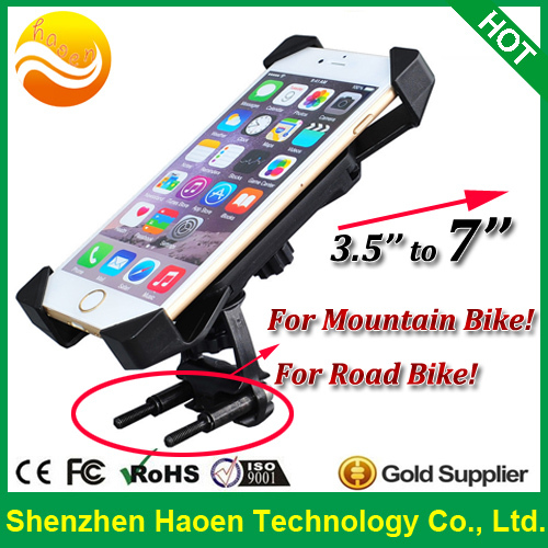 Free shipping Wholesale Phone Holder for Mountain Bike Phone Amount for Road Bicycle Motorcycle Phone Holder Amount for bicycle