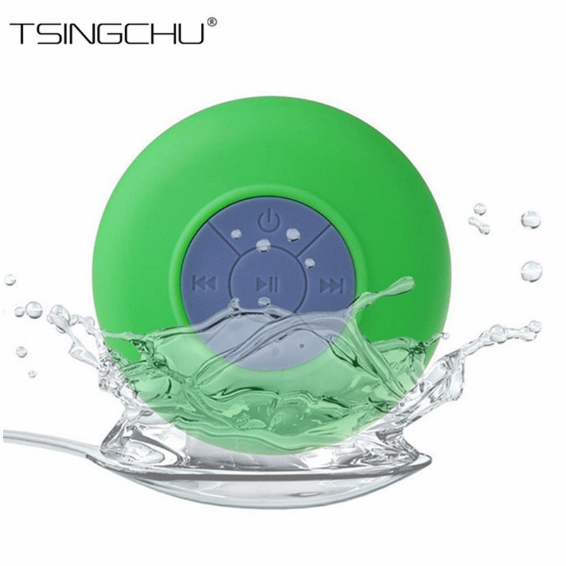 Portable Waterproof Wireless Bluetooth Speaker Suction Shower Car Handsfree Call &amp; Music Phone Mic For iPhone PC Laptop Samsung <br><br>Aliexpress