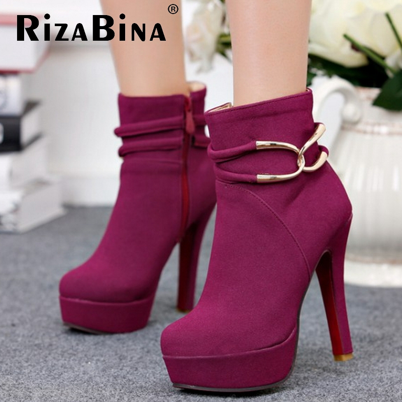 CooLcept Free shipping ankle half short boots women snow fashion winter warm boot footwear high heel shoes P15597 EUR size 32-42<br><br>Aliexpress
