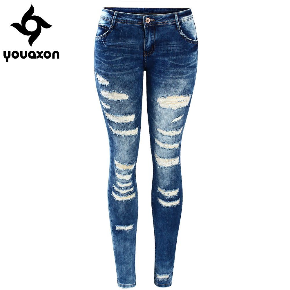 buy 2045 youaxon women s celebrity style fashion blue low rise skinny. Black Bedroom Furniture Sets. Home Design Ideas