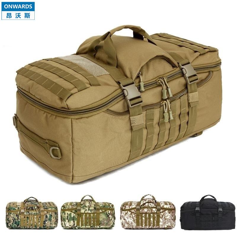 ONWARDS Men's Luggage Bag Outdoor Backpacks 60L Hiking Camping Travel Portable Bags Tactical Big Bag 60l Military Backpacks(China (Mainland))