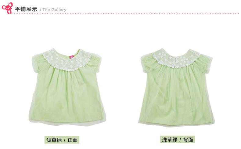 girls t shirt short sleeve kids lace t-shirts vintage size 4-11t girls blouse lace collar children clothing