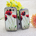 2007091C Vibrant Poppies I Hard Transparent Cover Case for Samsung Galaxy S3 S3 Mini S4 S4