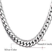 U7 قلادة المختنق/طويل 9 مللي متر/6 مللي متر خمر الشرير الأسود/الفضة/الذهب اللون ميامي سلسلة الهيب هوب سلسلة هدية للنساء/الرجال مجوهرات N08(China)