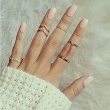 2015 Fashion Punk Gold/Silver Finger  Midi Knuckle Rings for Women Aneis Femininos Ring Sets Jewelry 5pcs bijoux women bagues