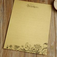 New Creative 8pcs/set Vintage Flower Kraft Letter Paper Vintage Writing Paper 561(China (Mainland))