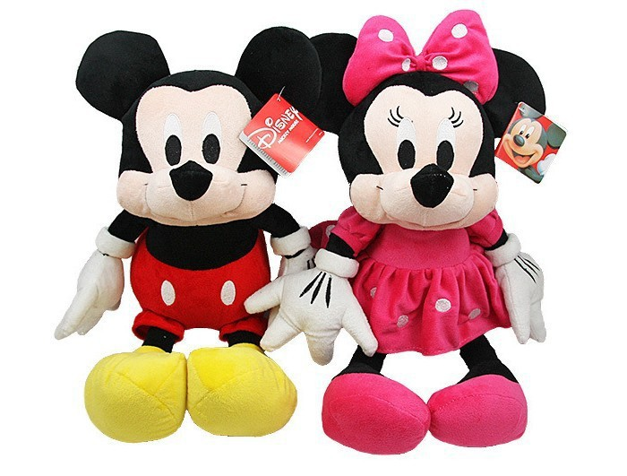 Super! 35cm 1peice plush toys wholesale mickey Minnie stuffed animals doll lovers wedding doll doll valentine's gift(China (Mainland))