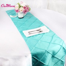 5PCS Stain Table Runners for Wedding Luxury Table Runner Pintuck Square Table Cloth Christmas Party Decoration Home Textile(China (Mainland))