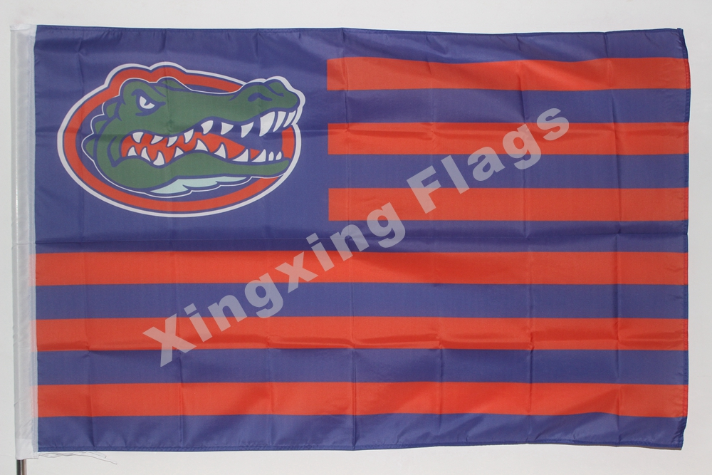 Florida Gators With Modified US Flag 3ft X 5ft Polyester NCAA Pirates Banner Flying Size No.4 144* 96cm Custom Flag(China (Mainland))