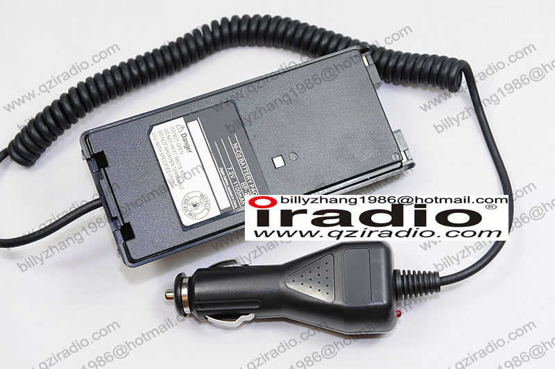 icom v8 walkie talkie charger battery eliminator car charger for portable two way radio transceiver 10pcs a lot