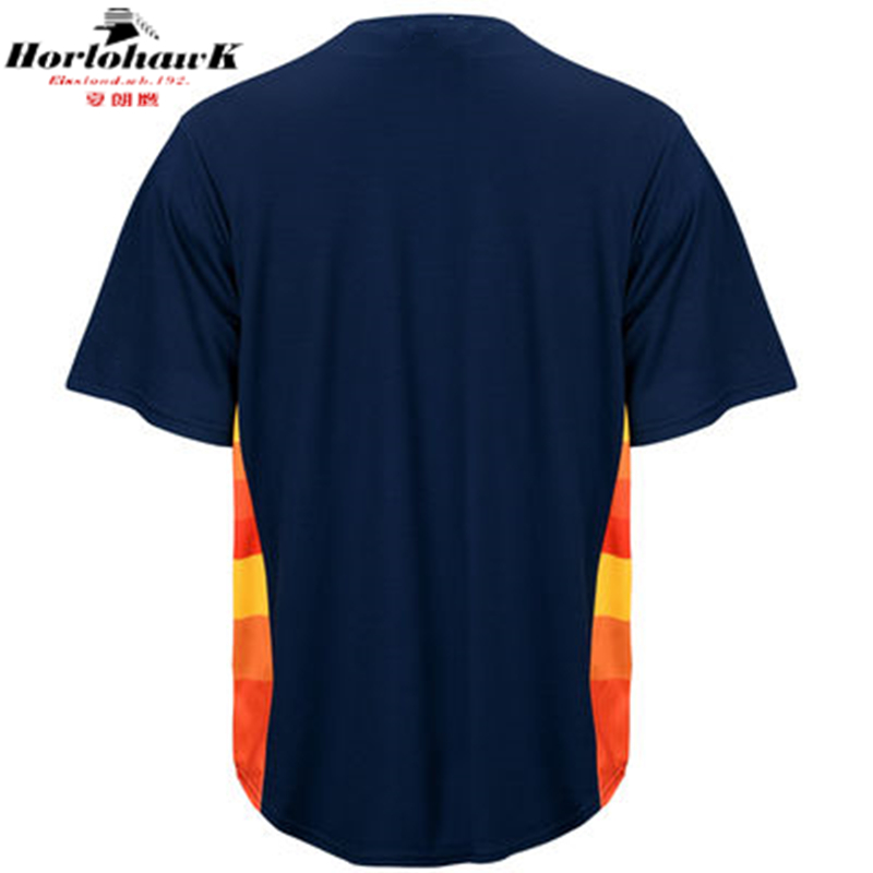 2016 Men's Houston Navy Alternate Custom Jersey 1 Carlos Correa Jersey 27 Jose Altuve 4 George Springer 7 Craig Biggio Jerseys(China (Mainland))