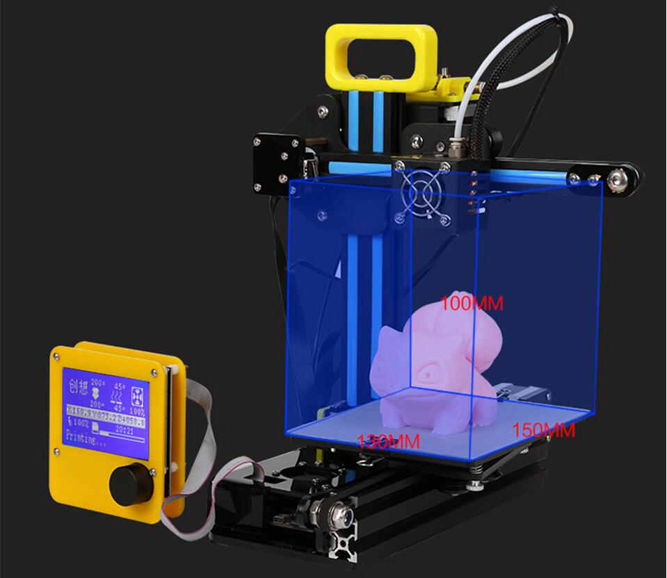 CREALITY 3D Mini Cheap 3d Color Printers CR-7 Semi-finished Full Metal Kit Upgraded Mainboard Filaments Safe Gift For Kids