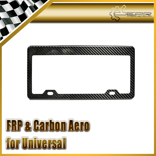 New Car Styling US Model Universal Pure Carbon Fiber Number License Frame 2pcs Car Accessories(China (Mainland))