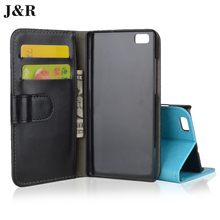 J&R Wallet Case For Huawei P8 Lite Leather Cover Case For Huawei Ascend P8 Lite ALE-L21P8 Mini Kickstand Mobile Phone Bag & Case