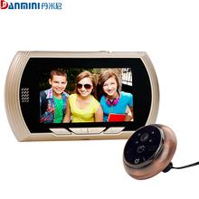 "NEW 4.3"" LCD Color Screen Doorbell Viewer Digital Door Peephole Viewer Camera Door Eye Video record 140 Degrees Night vision(China (Mainland))"