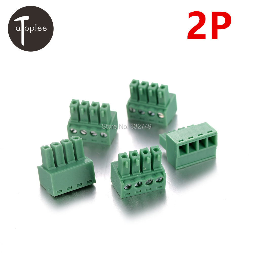10 PCS 2P 3.81MM 2EDG Plug-in PCB Male Terminal Block Connector 28-16 AWG Wire Cable Connector Terminal Kit(China (Mainland))