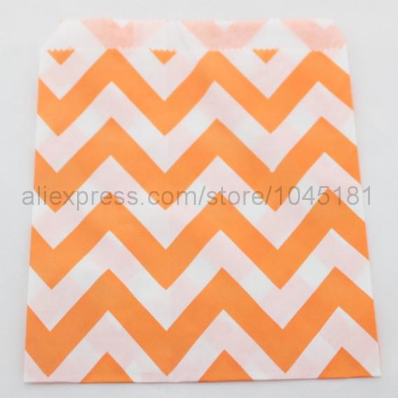 Здесь можно купить  Wedding Party  Favor Food Paper Bag of Chevron Treat Craft Bags for online sale  Дом и Сад