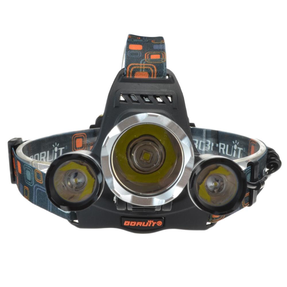 Гаджет  6000 Lumens 3 CREE XML L2 LED Headlight Headlamp Head Torch Flashlight Zoomable Rechargeable Headlights + Charger Free Shipping  None Свет и освещение