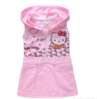 new 2015 girl dress FOR summer hello kitty casual girls dress brief  princess