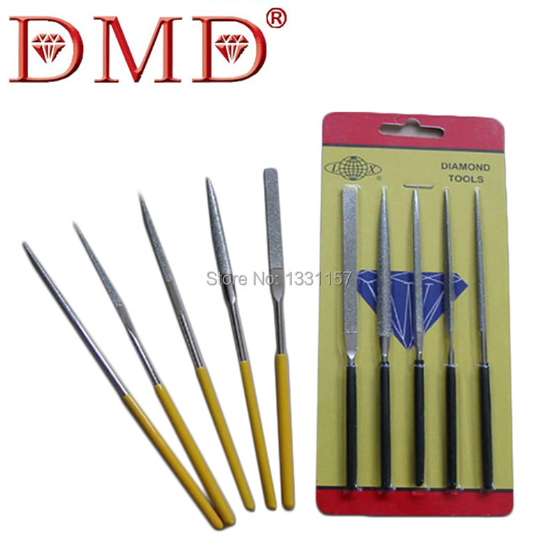 5Pcs/Set Hot Sale DMD Diamond Needle Files Jewelers Wood Carving Metal Glass Stone Craft Hand tools Free Shipping(China (Mainland))