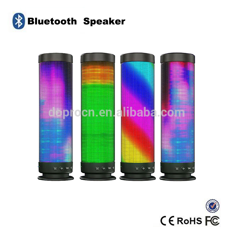 Shenzhen USB TF PC IPOD Mobile MP3 Portable colorful Stereo bluetooth Speaker with LED Lighting Dream Speaker In Fantasy Colors(China (Mainland))
