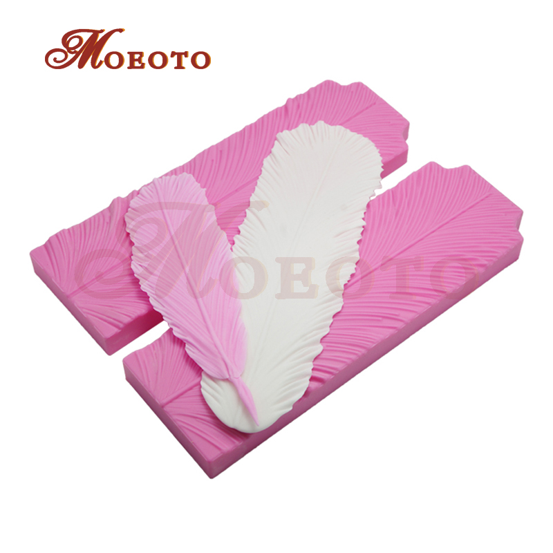New Big Feather 3d silicone mold,fondant cake kitchen accessory,cake decorating tools,cupcake dessert decor moulds,free shipping(China (Mainland))