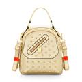 Trendy New Front Flap Pocket Occident Style Backpack Fashion High Quality Hand Bag Rivets Shoulder Bag