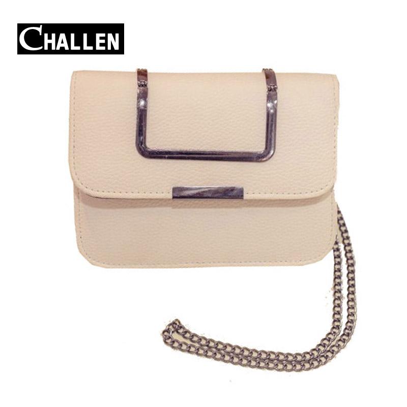 2016 fashion shoulder leather handbag chain italian luxury women bags designer handbags famous brand messenger bag female clutch(China (Mainland))