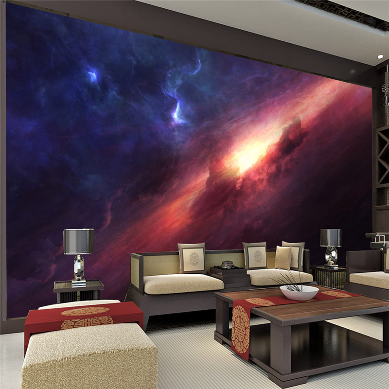 Popular galaxy wallpaper buy cheap galaxy wallpaper lots for Galaxy bedroom ideas