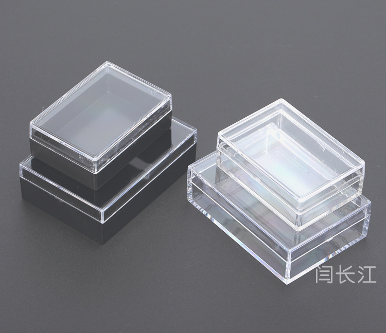 Acrylic Boxes Small : Crystal clear plastic box small injection