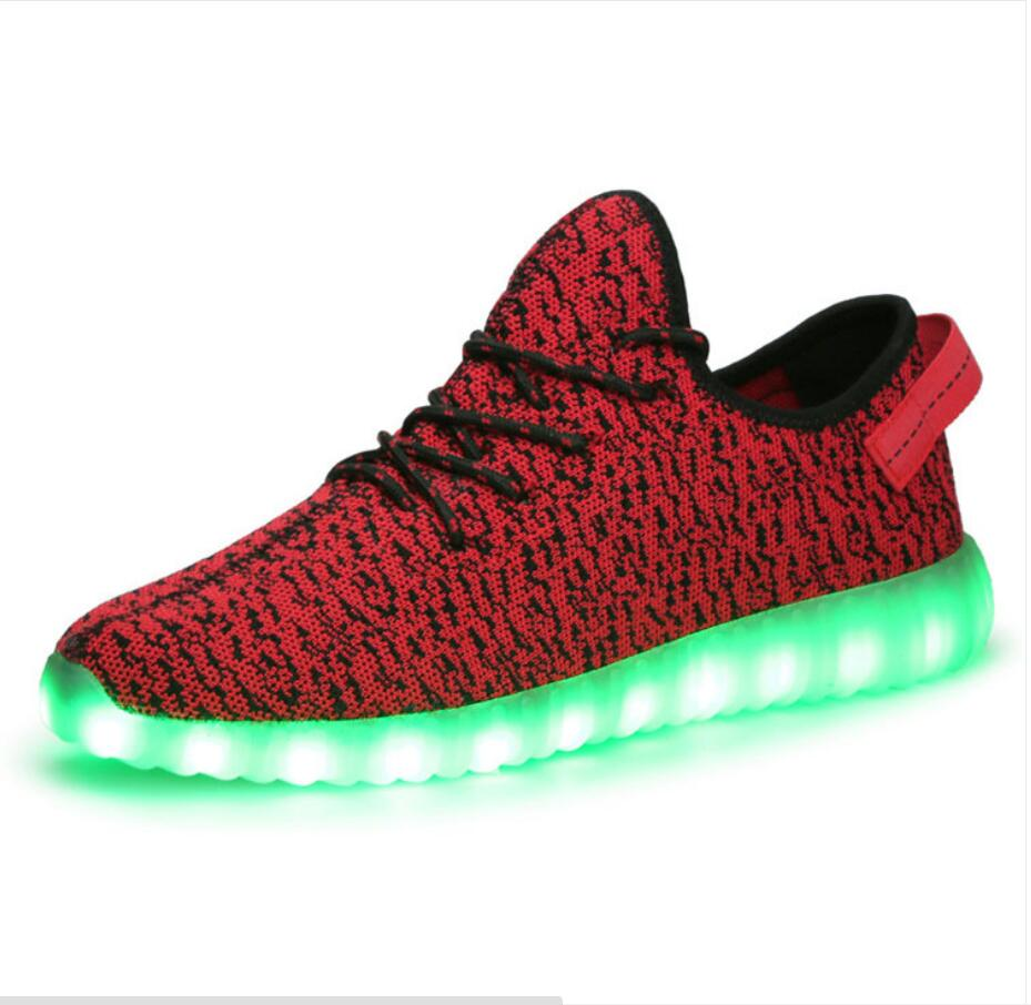 new 2016 4 colors led shoes for adults mens led