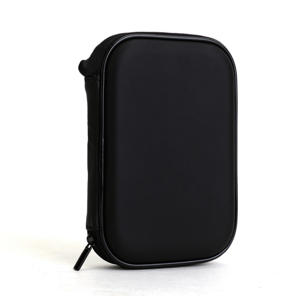 High Quality universal Black Portable Zipper External 2.5 HDD Bag Case Pouch For Protection For 2.5 GPS Hard Disk Drive Helper(China (Mainland))