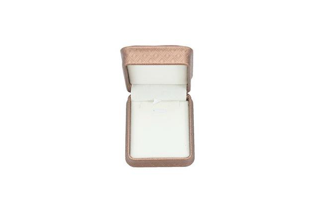 Rounded corners drilled stone leather pendant ring box  necklace bracelet earrings set box of velvet jewelry box Custom