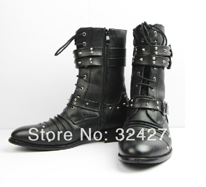 Boots Punk Punk Motorcycle Boots
