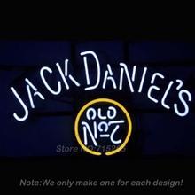 Jack Daniells Old #7 Whiskey Neon Light Sign Real Glass Tube Neon Bulbs Pub Recreation Room Garage Neon Sign Store Display19x15(China (Mainland))